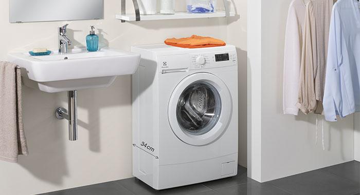 Toppmatad liten tvättmaskin
